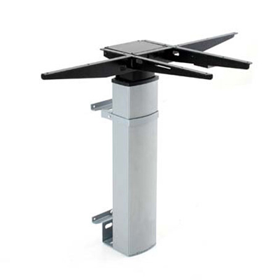 Wall mounted Electric Desk FrameElectric Desk Frame | 1-Column | Silver